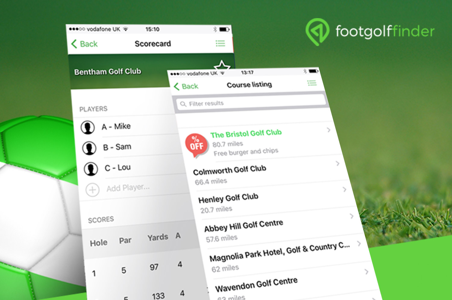 Feature on Footgolf Finder©